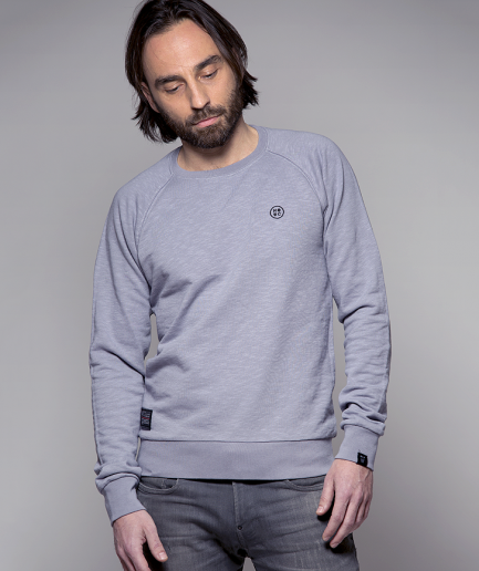 Milk and Cookiez sweatshirt boy men model grey logo