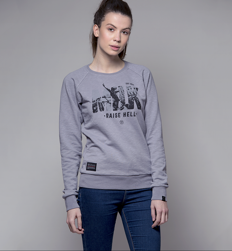 Milk and Cookiez sweatshirt grey riots raise hell model women girl
