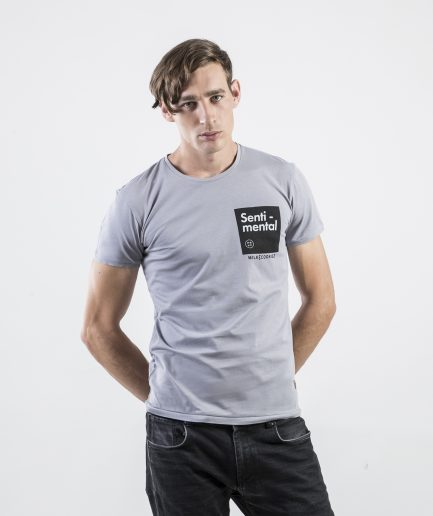 Milk and Cookiez Senti mental light grey Brand t-shirt t shirt Men model