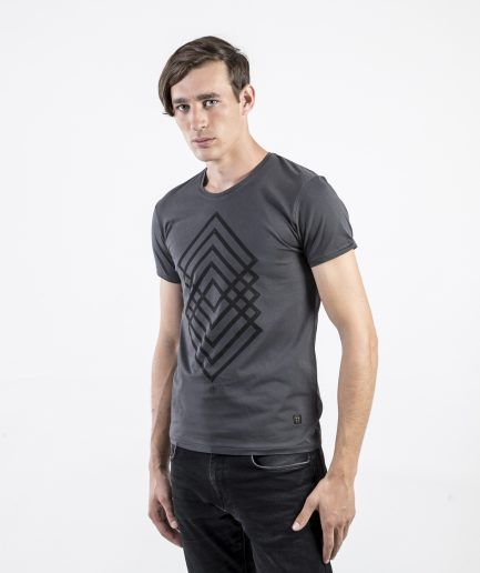 Milk and Cookiez geometry grey Brand t-shirt t shirt Men model
