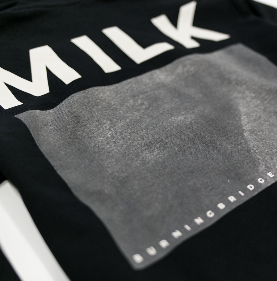 Milk & Cookiez MILK Burning bridges hoodie sweatshirt back print detail