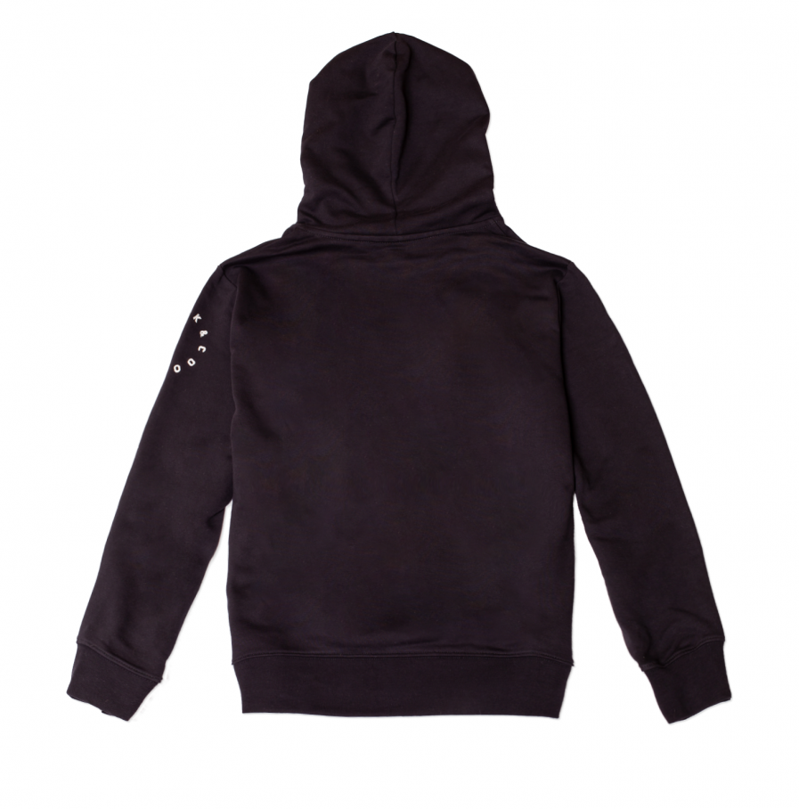 MILK & Cookiez black hoodie M logo arm print product back