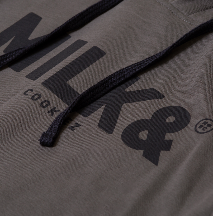 MILK & Cookiez military green hoodie detail 1