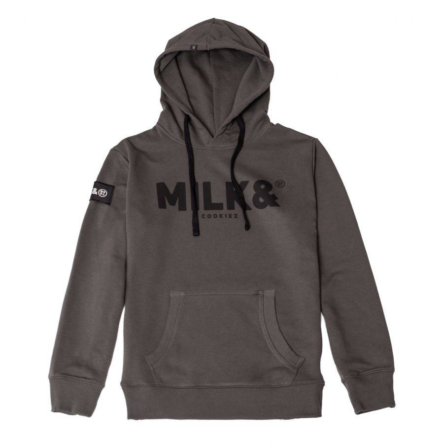 MILK & Cookiez military green hoodie front