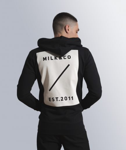 MILK & Cookiez zip hoodie black back print product back