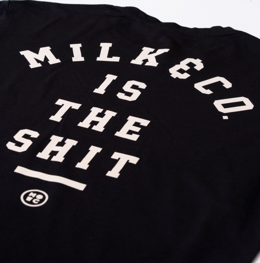 Milk & Cookiez is the shit long fit black new cut men product back detail