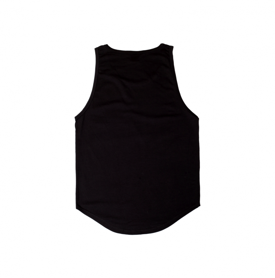 Milk & Cookiez tank top shirt black logo long fit back product
