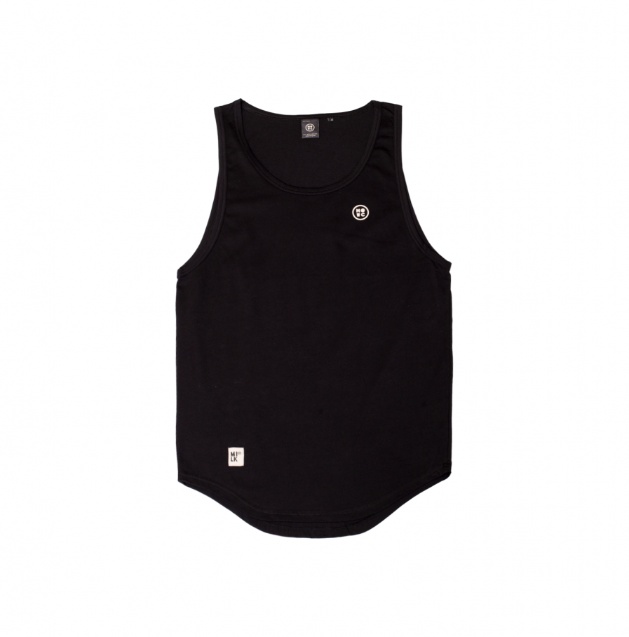 Milk & Cookiez tank top shirt black logo long fit front product