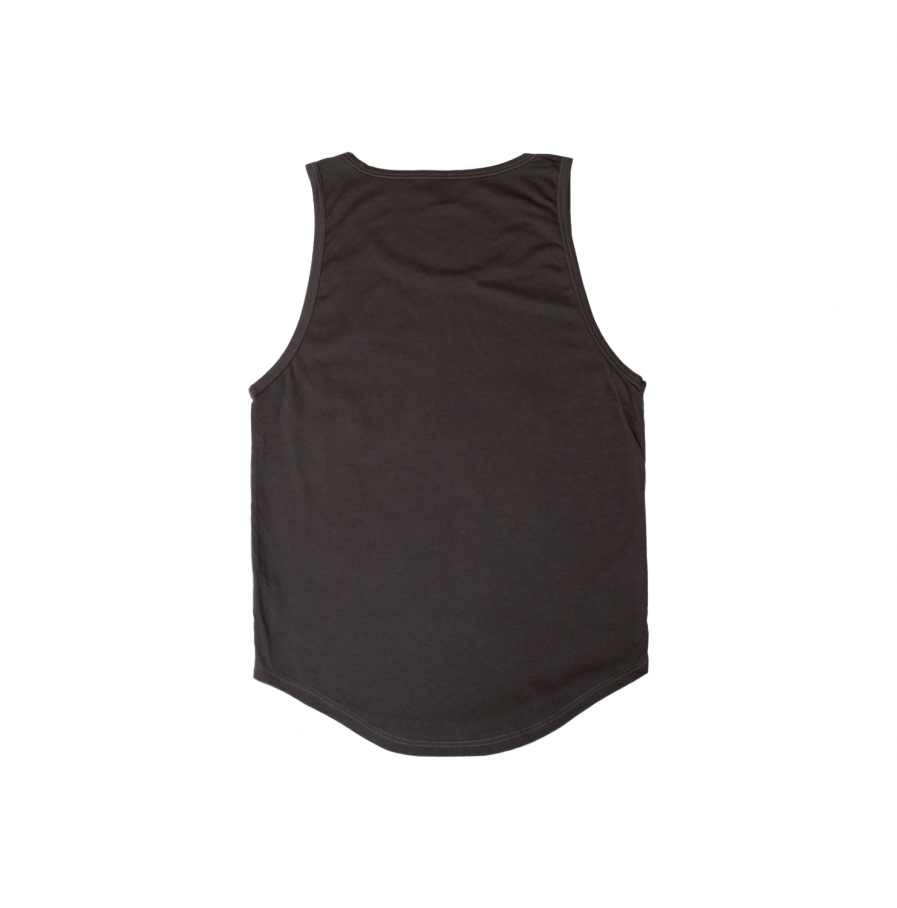 Milk & Cookiez tank top shirt dark grey long fit back product