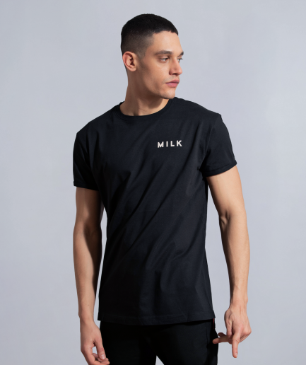 Milk clean minimal burning bridges long fit black new cut men model front