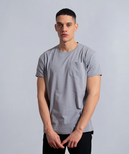 Milk clean minimal burning bridges long fit with pocket grey new cut men model front